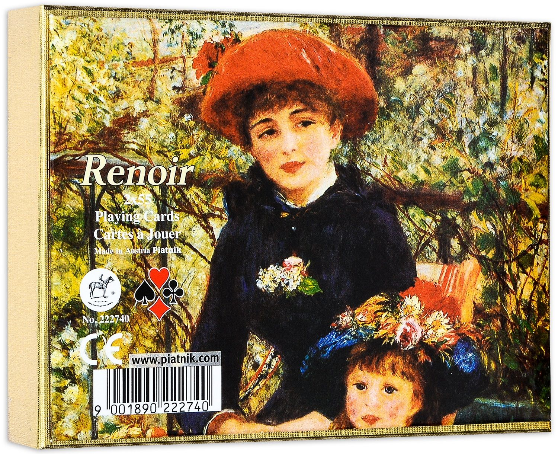 Карти за игра Piatnik - Renoir - Red hat (2 тестета) - 1