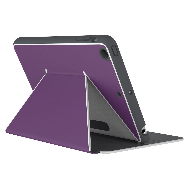 Калъф Speck iPad Mini 4 DuraFolio Acai Purple/White/Slate Grey - 1