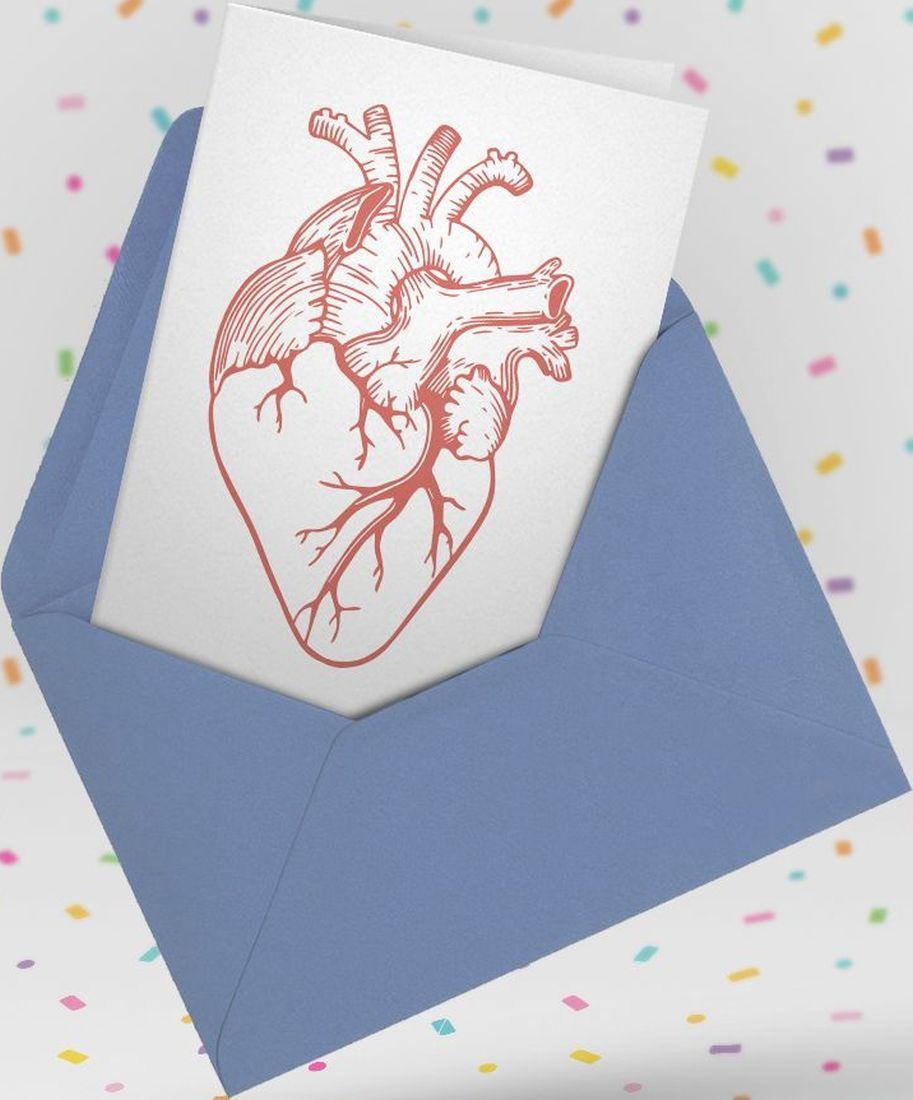 Картичка Мазно.бг - Анатомично сърце-2 - 3