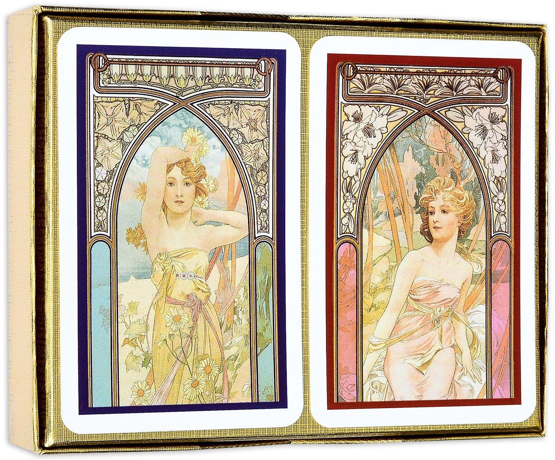 Карти за игра Piatnik - Mucha Beauty (2 тестета) - 2