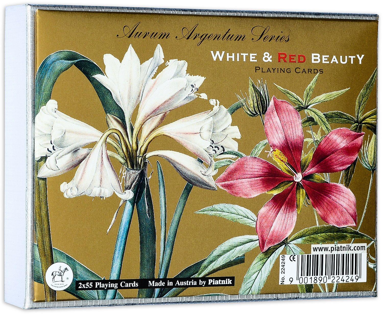 Карти за игра Piatnik - White and Red Beauty (2 тестета) - 1