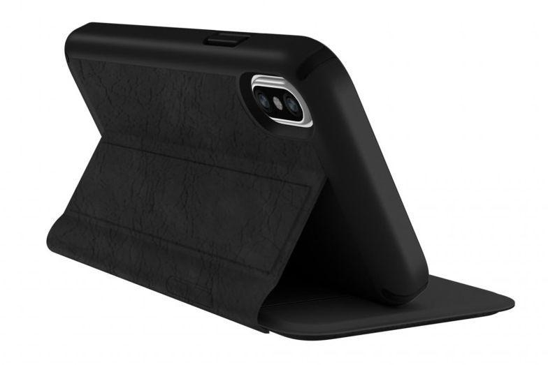 Калъф Speck Presidio Folio - за iPhone X, кожен, черен - 1