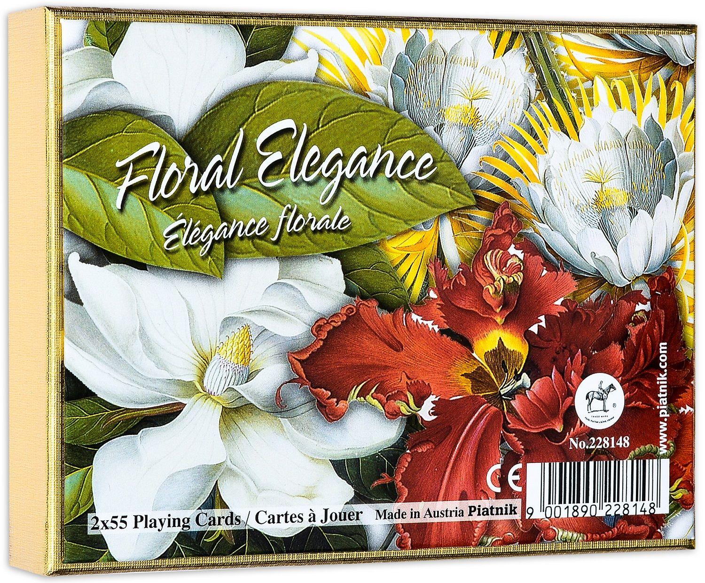 Карти за игра Piatnik - Floral Elegance (2 тестета) - 1