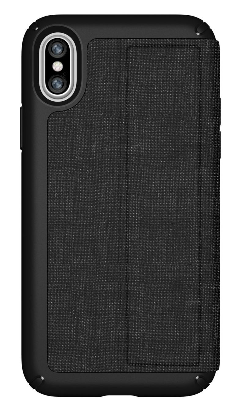Калъф Speck iPhone X Presidio Folio - Heathered Black/Black/Slate Grey - 1