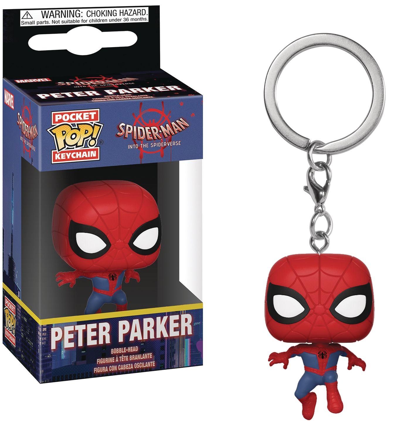 Ключодържател Funko Pocket POP! Spider-Man Into the Spider-Verse: Peter Parker  - 2