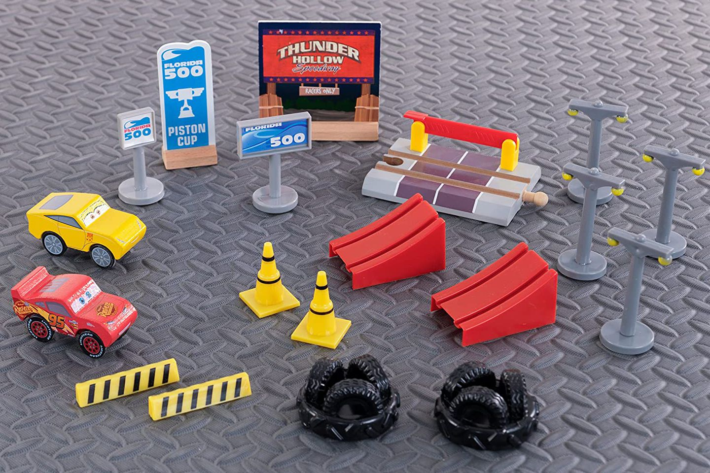 Игрален комплект KidKraft Cars 3 - Дървена писта с 2 колички - 3