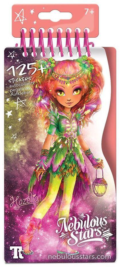 Книжка за рисуване Nebulous Stars - С шаблони и стикери, Моден дизайнер, Хазелия - 3