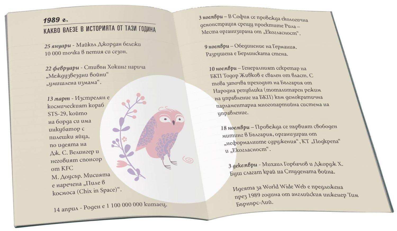 Книжка за рожденик с пожелания от сърце 1989 г.-1 - 2