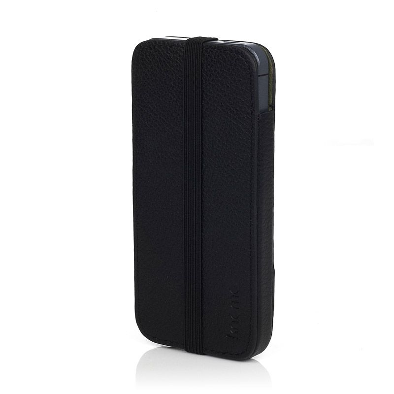 Knomo Leather Sleeve Elastic за iPhone 5 -  черен - 1