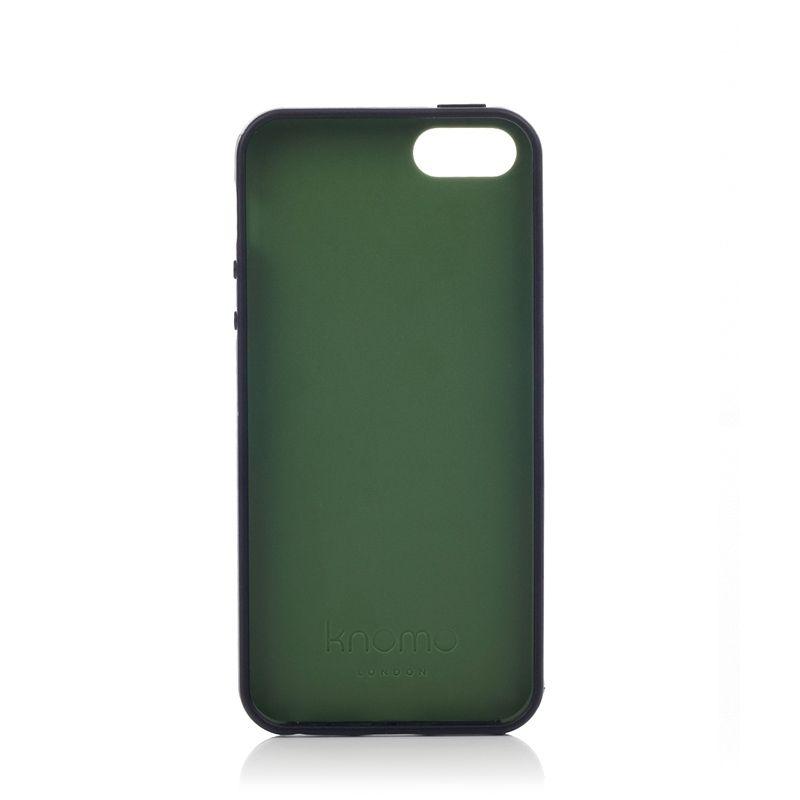 Knomo Leather Case за iPhone 5 -  черен - 5