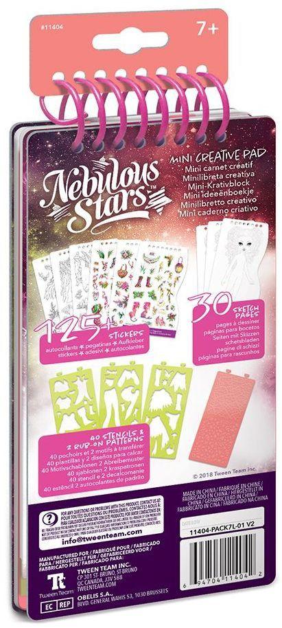 Книжка за рисуване Nebulous Stars - С шаблони и стикери, Моден дизайнер, Хазелия - 4
