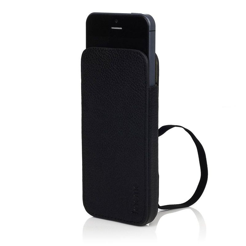 Knomo Leather Sleeve Elastic за iPhone 5 -  черен - 2