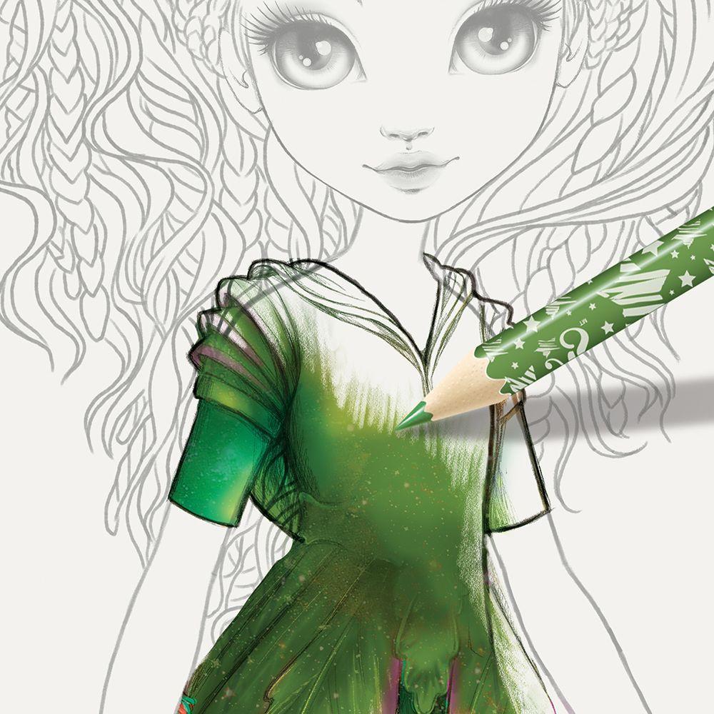 Книжка за рисуване Nebulous Stars - С шаблони и стикери, Моден дизайнер, Хазелия - 9