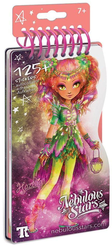 Книжка за рисуване Nebulous Stars - С шаблони и стикери, Моден дизайнер, Хазелия - 1