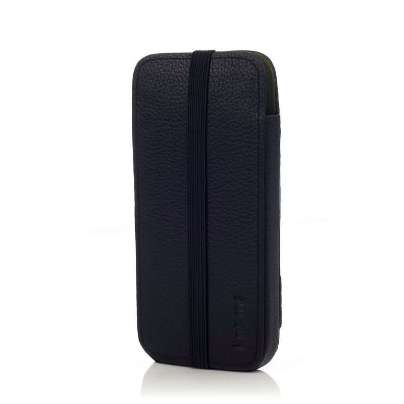 Knomo Leather Sleeve Elastic за iPhone 5 -  черен - 4