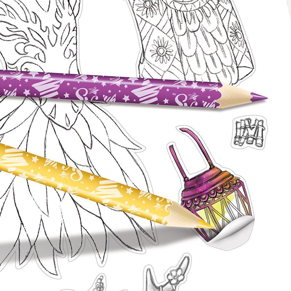 Книжка за рисуване Nebulous Stars - С шаблони и стикери, Моден дизайнер, Хазелия - 8