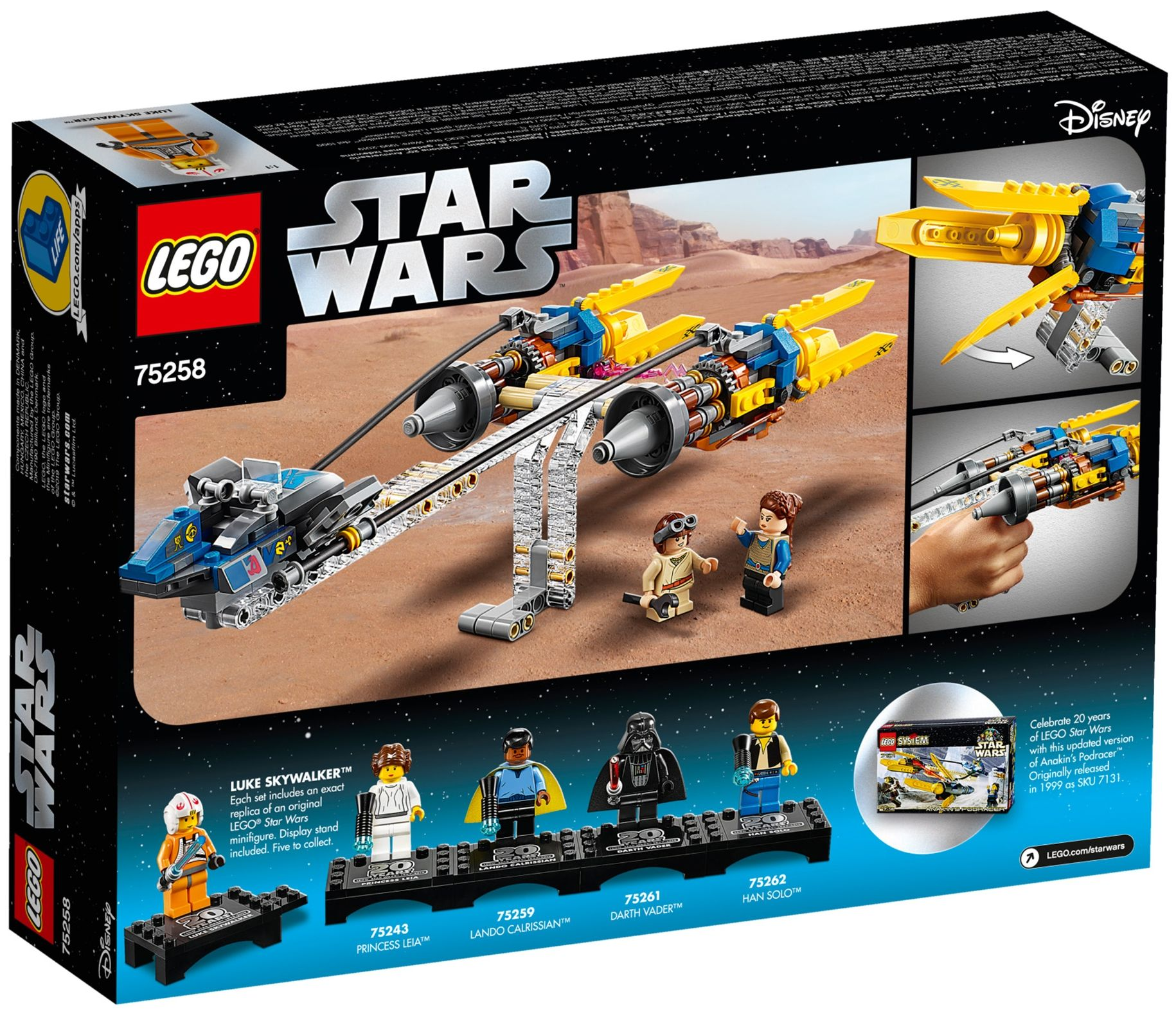Конструктор Lego Star Wars -  Anakin's Podracer (75258) - 2