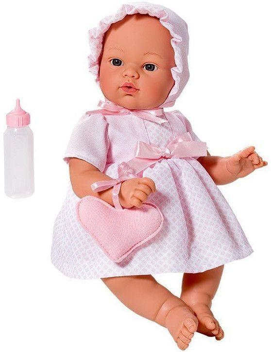 Кукла Asi - Бебе Коке, с розова рокля и чантичка - 2