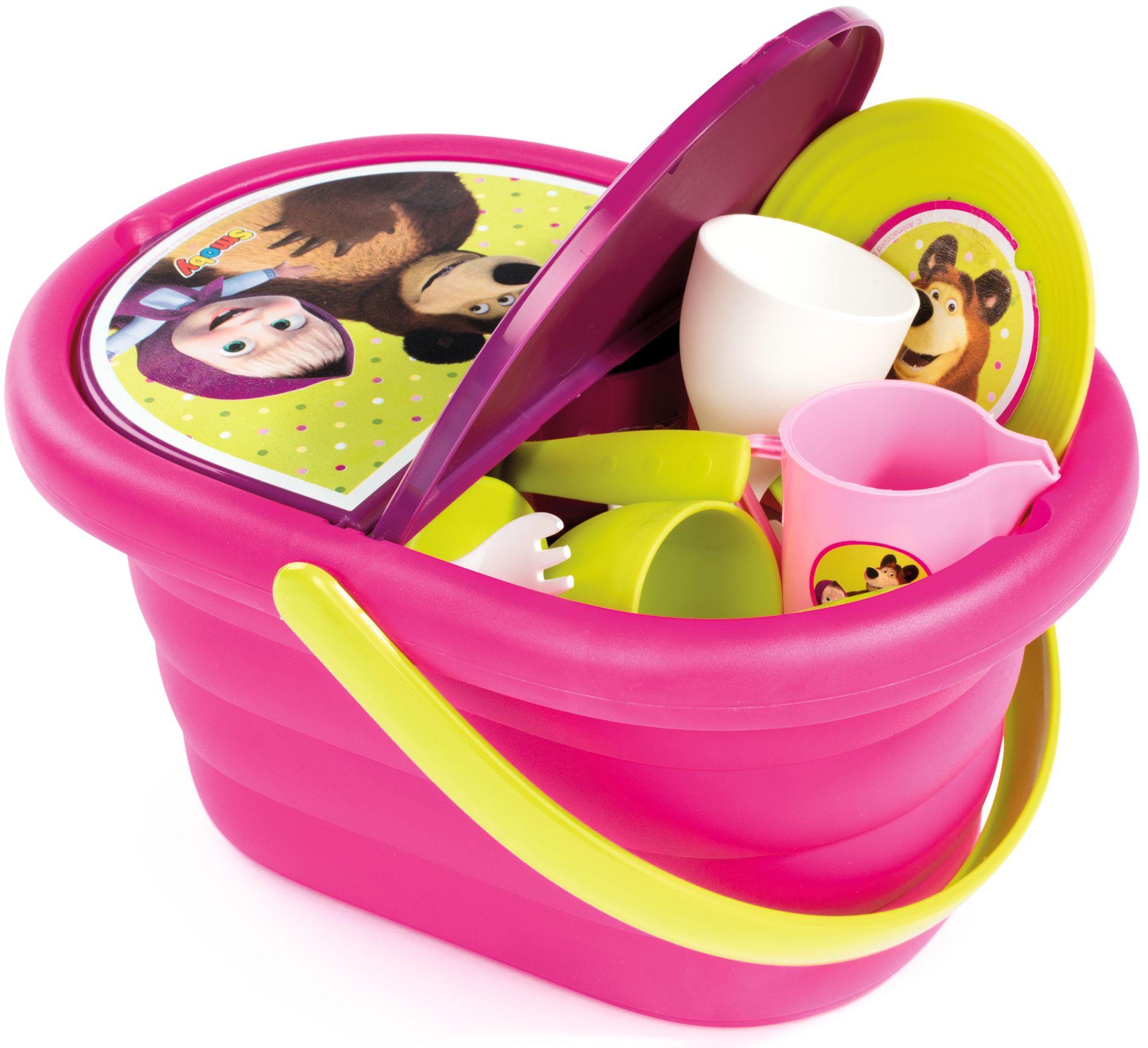 Детска кошница за пикник Smoby - Маша и мечока - 1