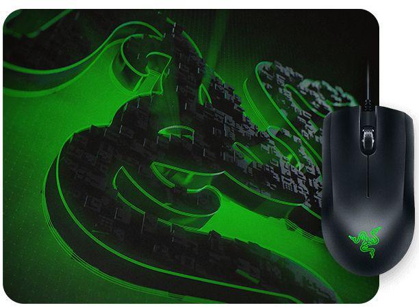 Комплект мишка и пад Razer - Abyssus Lite & Goliathus Mobile Construct Ed. - 6