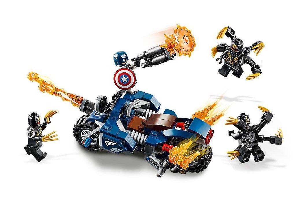 Конструктор Lego Marvel Super Heroes - Captain America: Outriders Attack (76123) - 2