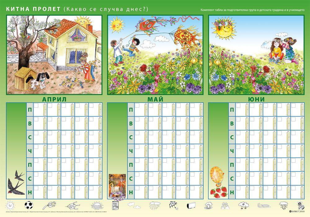 Комплект табла за подготвителна група в детската градина и в училището - 6