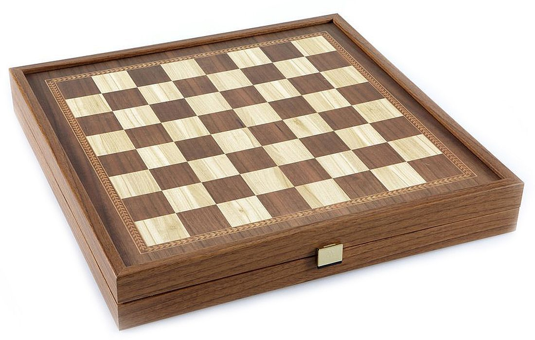 Комплект шах и табла Manopoulos - Цвят орех, 41 x 41 cm - 6