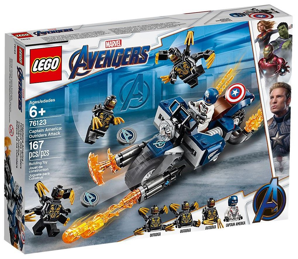 Конструктор Lego Marvel Super Heroes - Captain America: Outriders Attack (76123) - 1