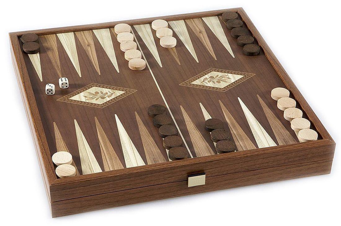 Комплект шах и табла Manopoulos - Цвят орех, 41 x 41 cm - 3