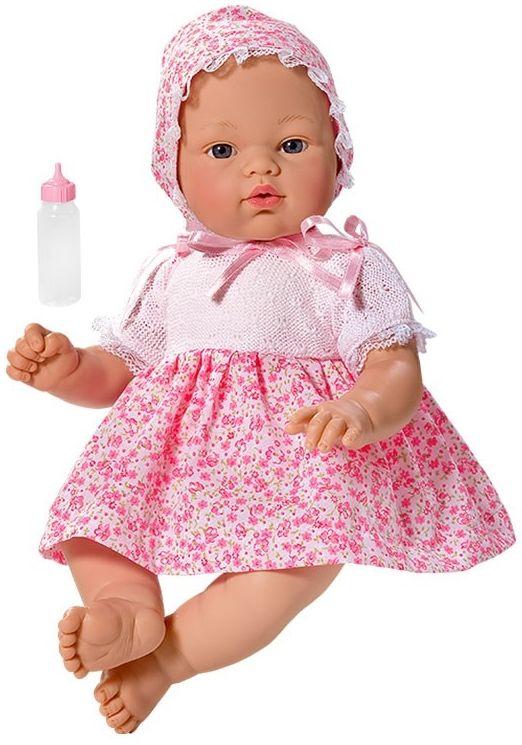 Кукла Asi - Бебе Коке, с розова рокличка на цветя - 1