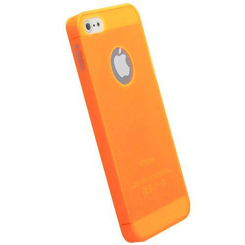 Krusell FrostCover за iPhone 5 -  оранжев-прозрачен - 1