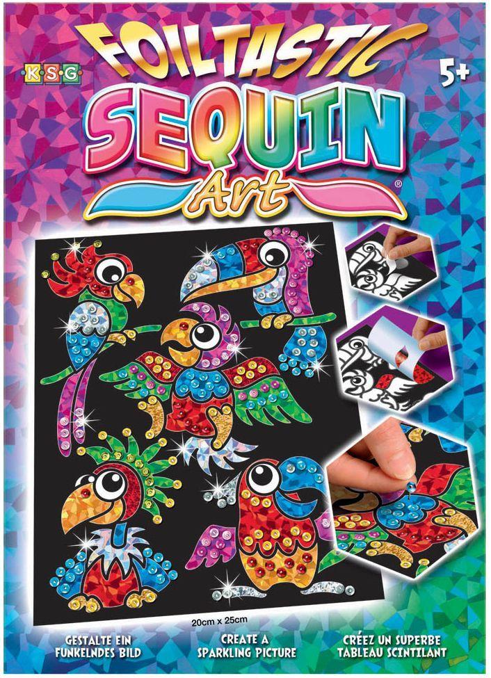 Творчески комплект KSG Crafts Sequin Art - Изкуство с пайети и фолио, Птици-бебета - 2