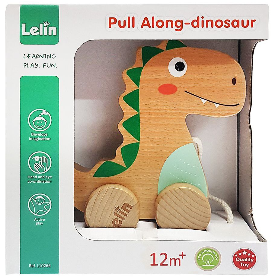 Дървена играчка за дърпане Lelin - Добрият динозавър - 2