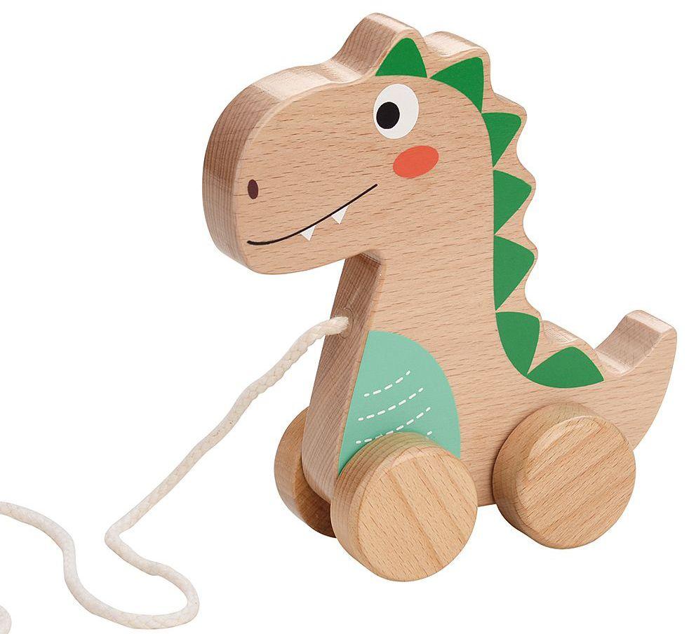 Дървена играчка за дърпане Lelin - Добрият динозавър - 1