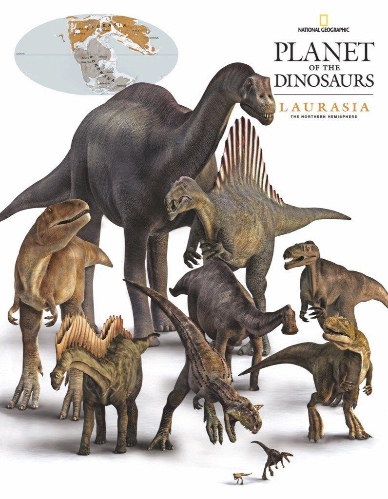 Мини пъзел New York Puzzle от 100 части - Динозаври, Лавразия - 1