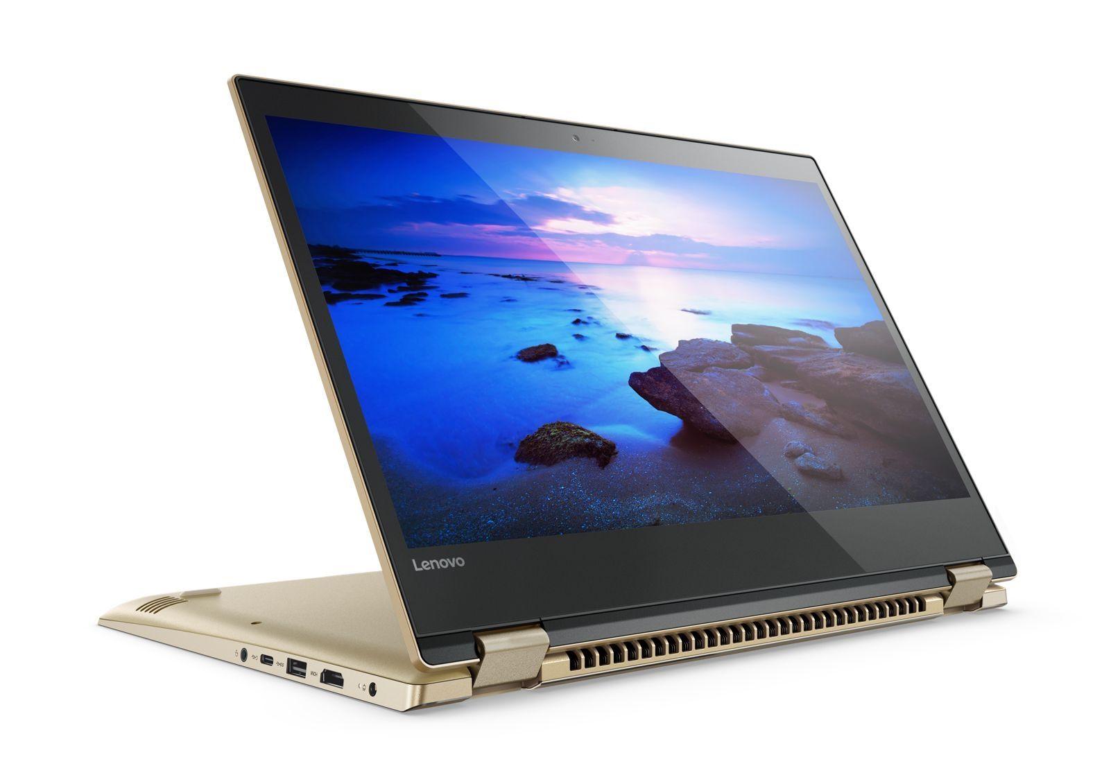 "Лаптоп Lenovo Yoga 520-14IKB - 14"", 4GB, 128GB SSD, Windows 10 - 1"