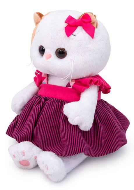 Плюшена играчка Budi Basa - Коте Ли-Ли бебе, в сукманче, 20 cm - 2
