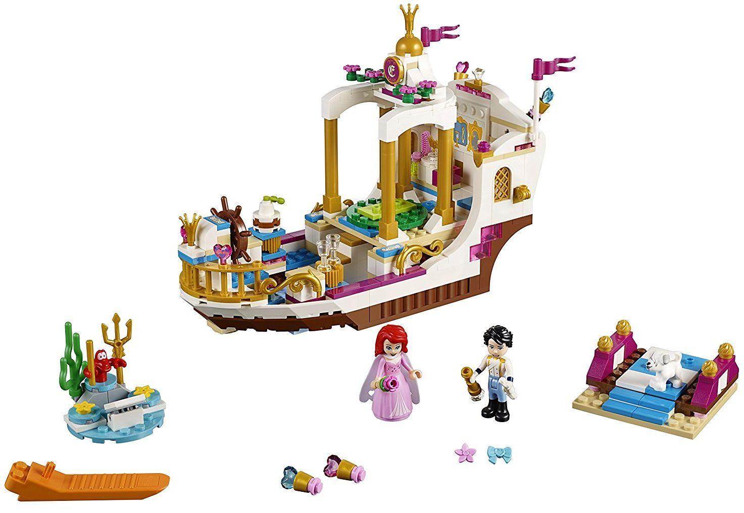 Конструктор Lego Disney Princess - Кралската лодка за празненства на Ариел (41153) - 9