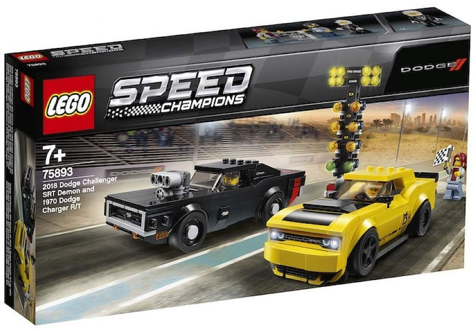 Конструктор Lego Speed Champions - 2018 Dodge Challenger SRT Demon и 1970 Dodge Charger R/T (75893) - 7