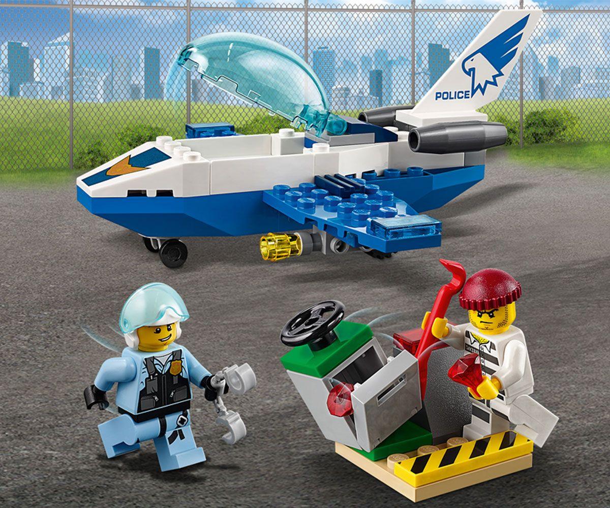 Конструктор Lego City - Полиция в небето, реактивен патрул (60206) - 9