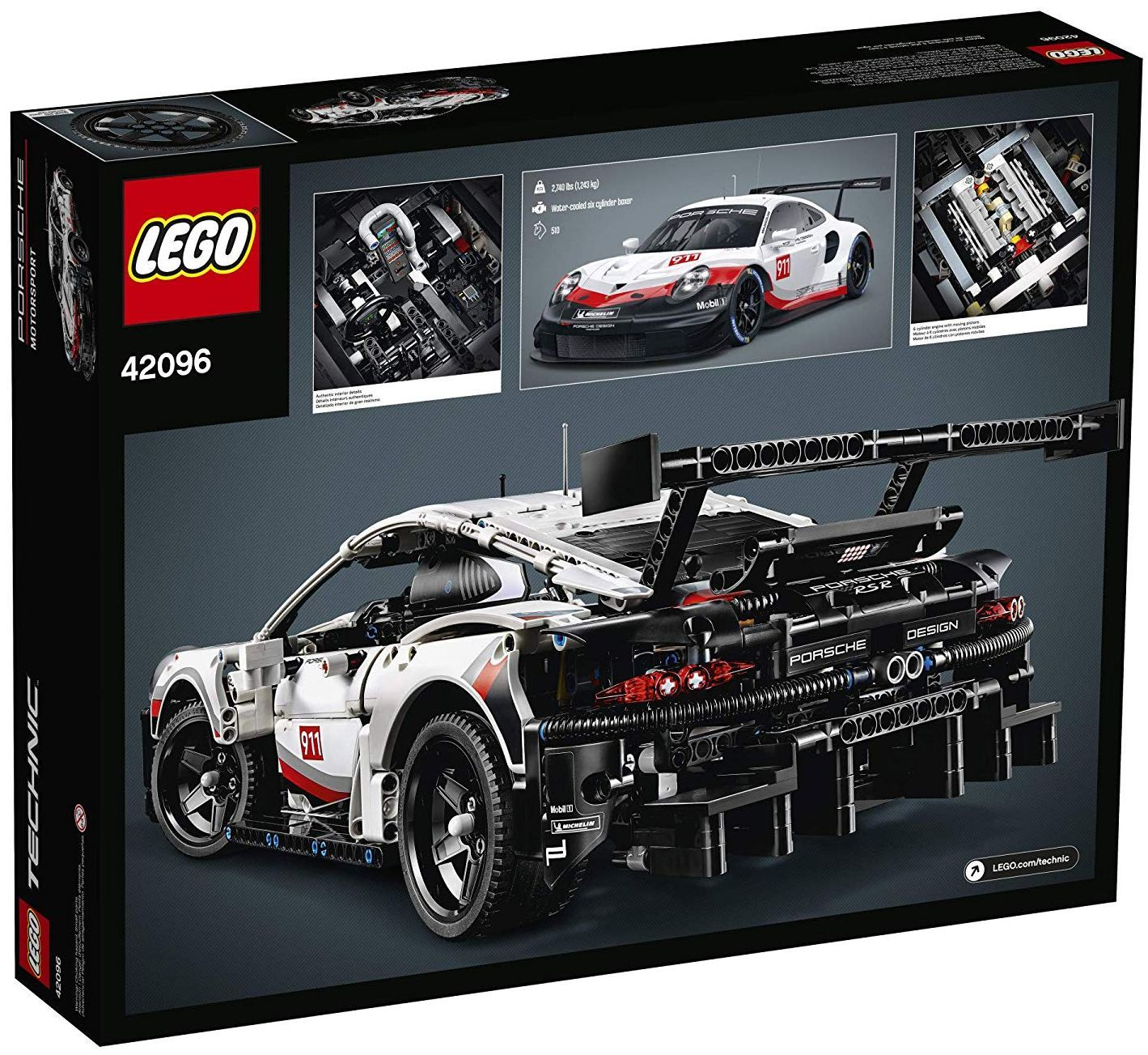 Конструктор Lego Technic - Porsche 911 RSR (42096) - 1