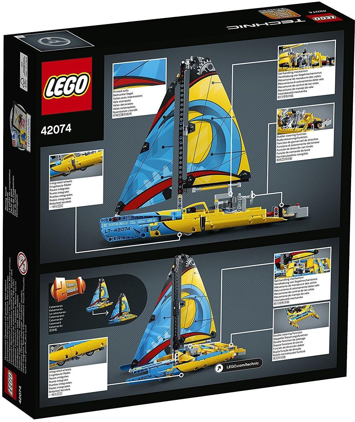Конструктор Lego Technic - Състезателна яхта (42074) - 3