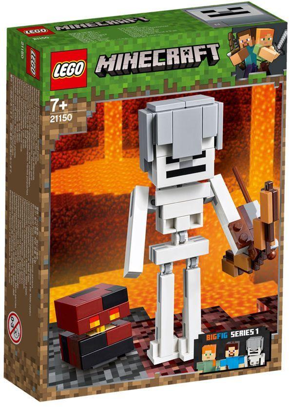 Конструктор Lego Minecraft - Голяма фигурка скелет с куб от магма (21150) - 7