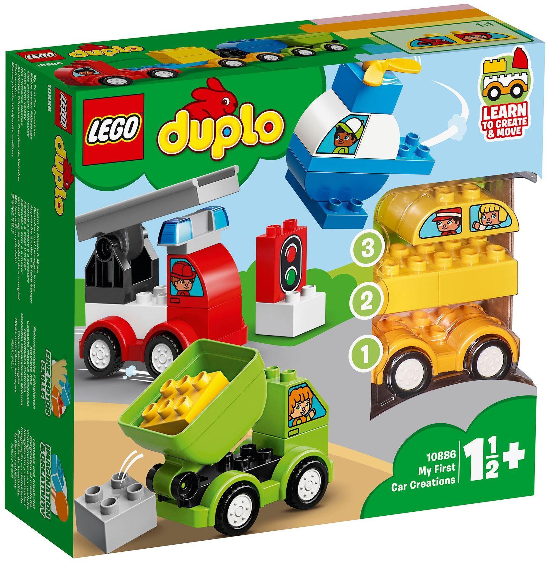 Конструктор Lego Duplo - Моите първи автомобилни творения (10886) - 1