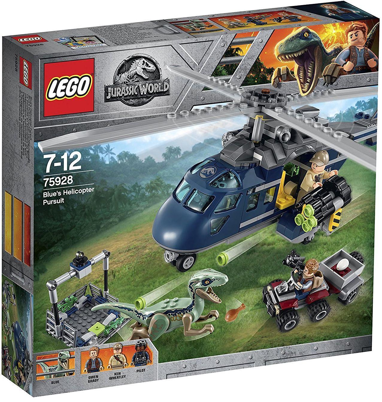 Конструктор Lego Jurassic World - Преследване с хеликоптер (75928) - 1