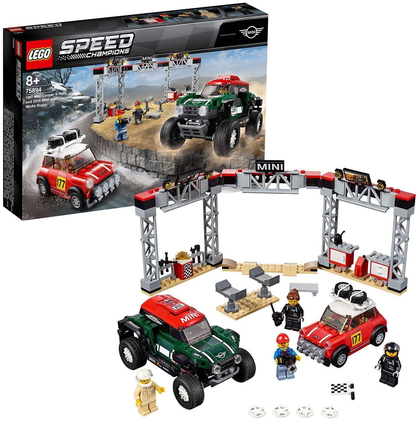 Конструктор Speed Champions - 1967 Mini Cooper S Rally и 2018 MINI John Cooper Works Buggy (75894) - 6
