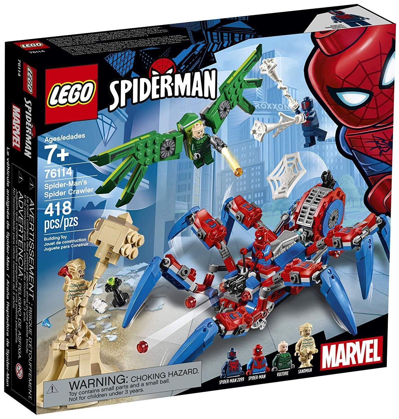 Конструктор Lego Marvel Super Heroes - Машината на Spider-Man (76114) - 5