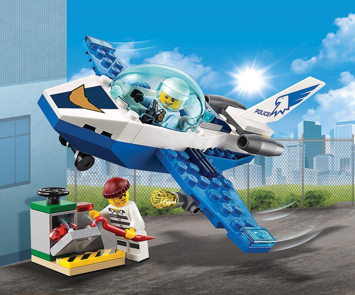 Конструктор Lego City - Полиция в небето, реактивен патрул (60206) - 6