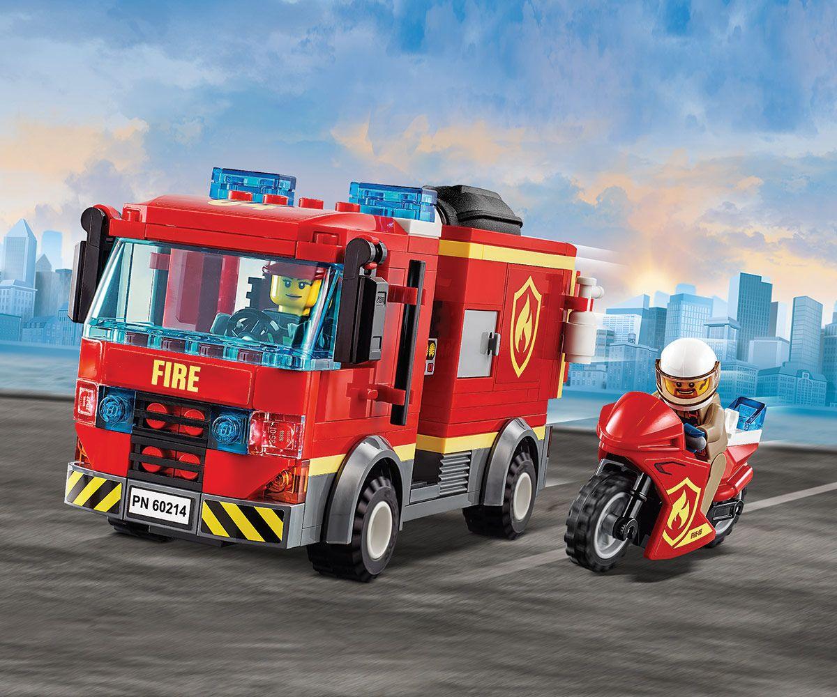 Конструктор Lego City - Спасителна акция от пожар в бургер бар (60214) - 1