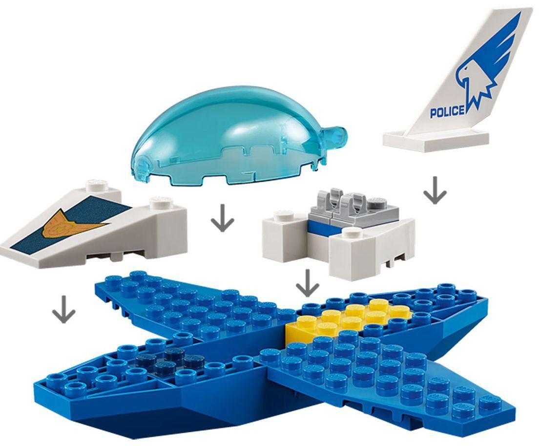 Конструктор Lego City - Полиция в небето, реактивен патрул (60206) - 8